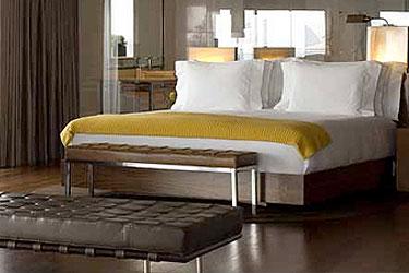 Trendy and modern bedroom at Hotel Fasano Rio in Brazil