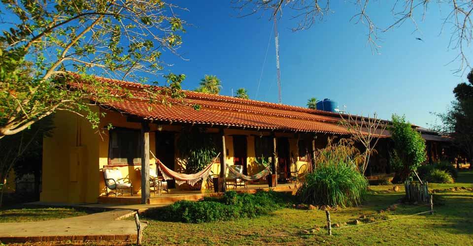Facade of Araras Eco Lodge Pantanal in Brazil