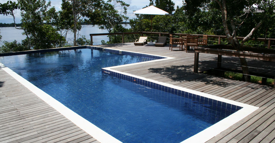 Gorgeous Pool at the Anavilhanas Lodge in Amazon, Brazil