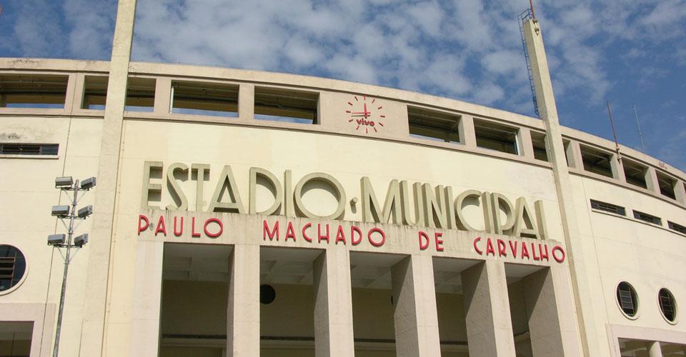 Estadio Pacaembu, Sao Paulo in Brazil