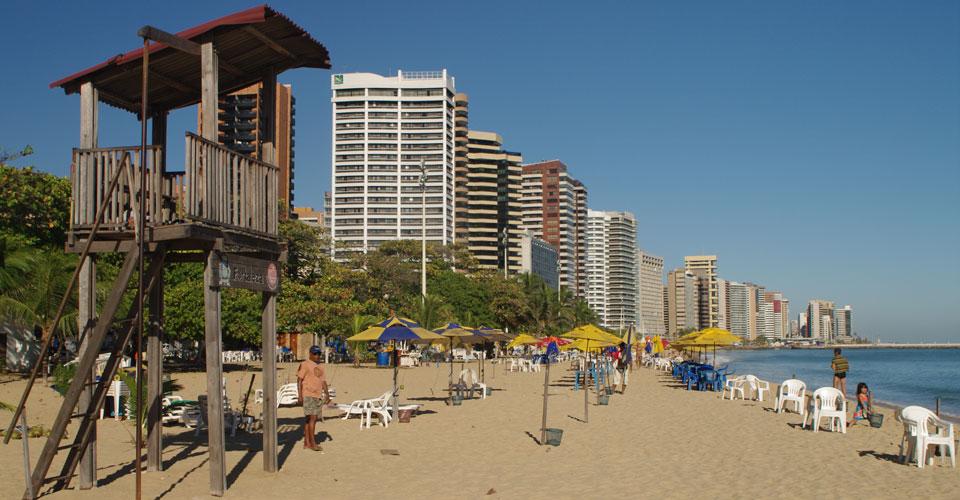Meireles beach in Fortaleza, State of Ceara, in Brazil