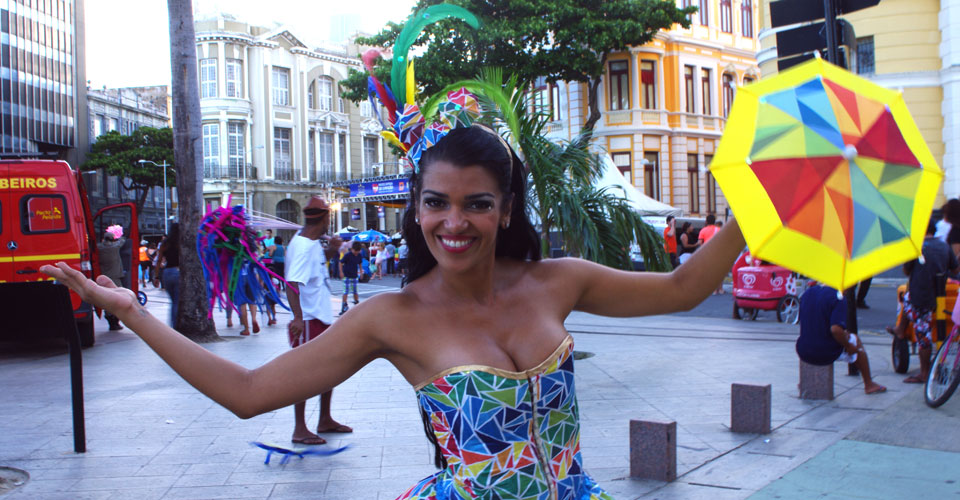 Local Recife's resident dressed up to dance frevo in Recife Brazil