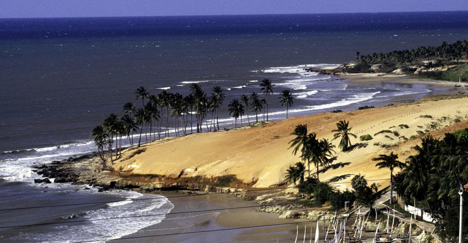 Lagoinha beach in Fortaleza, State of Ceara, in Brazil