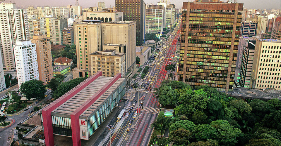 Avenida Paulista, Sao Paulo, in Brazil