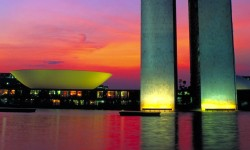 Three Powers Plaza Monument in Brasilia, State of Distrito Federal, Brazil