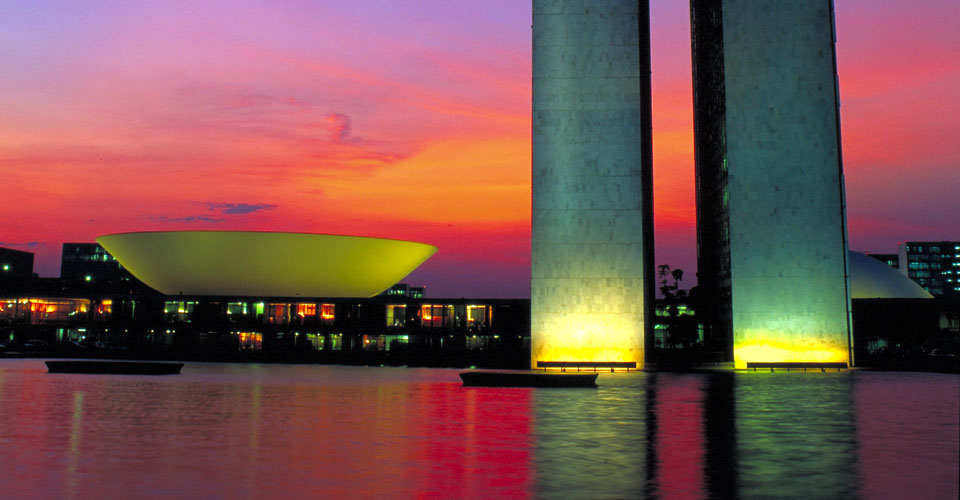 Three Powers Plaza Monument in Brasilia, State of Distrito Federal, Brazil