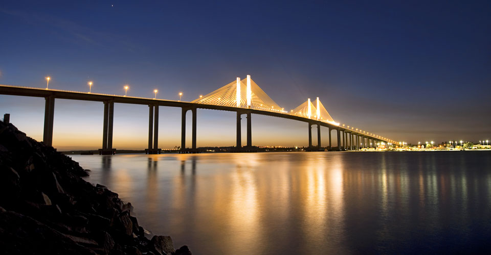 The Newton Navaro bridge in Natal, Rio Grande do Norte in Brazil