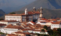 Colonial town of Ouro Preto in Minas Gerais, Brazil