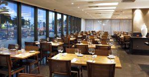 A charming restaurant  at the Hotel Arena Copacabana in Rio de Janeiro, Brazil