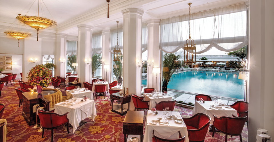 The classic Italian Restaurant Cipriani, at the Belmond Copacabana Palace in Rio de Janeiro, Brazil