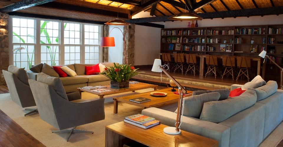 Gorgeous seating area at Pousada Literaria de Paraty, Brazil