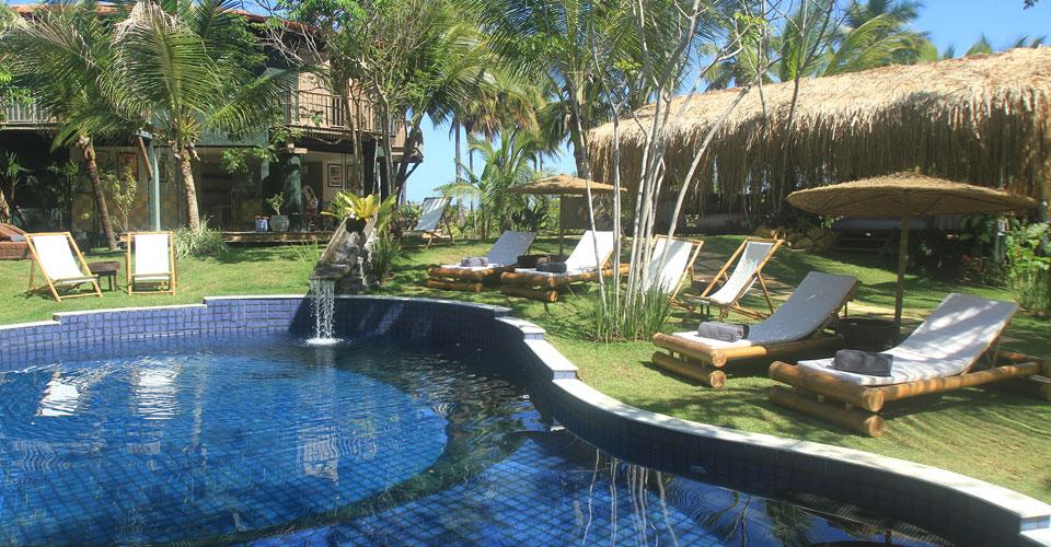 Gorgeous pool from Butterfly House in Marau,Bahia in Brazil