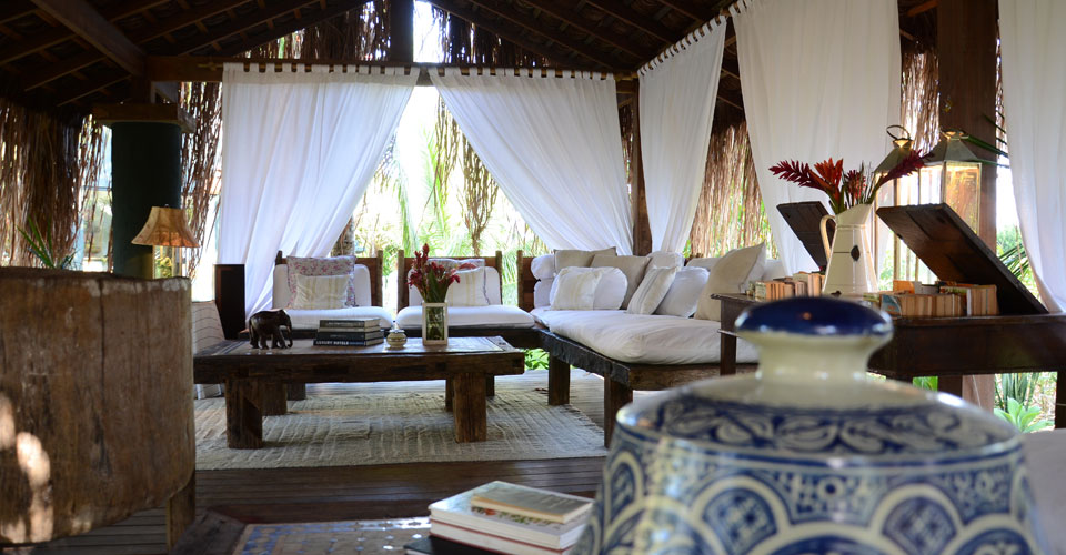 Living room from Butterfly House Bahia in Brazil