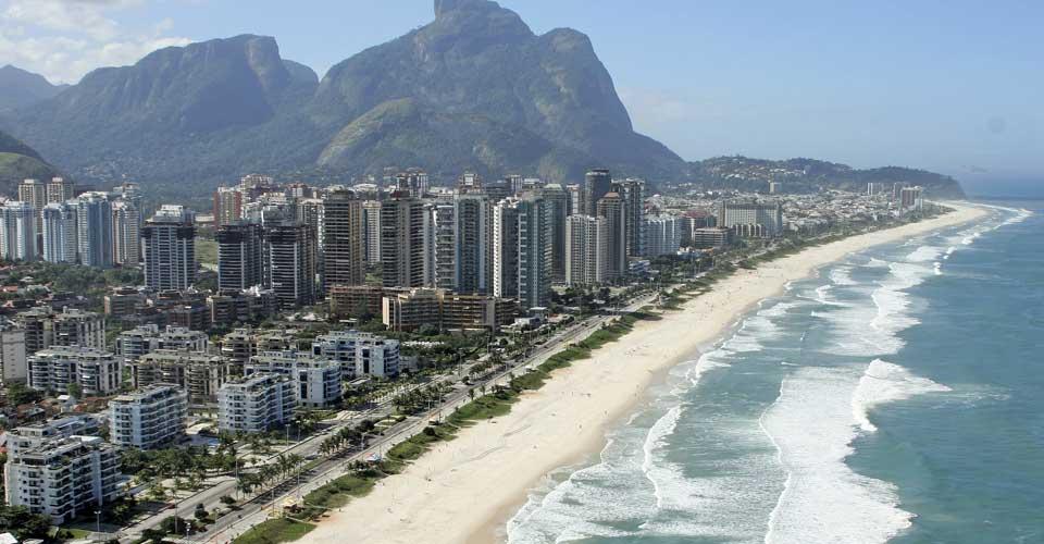 A gorgeous Barra da Tijuca beach view in Rio de Janeiro , Brazil