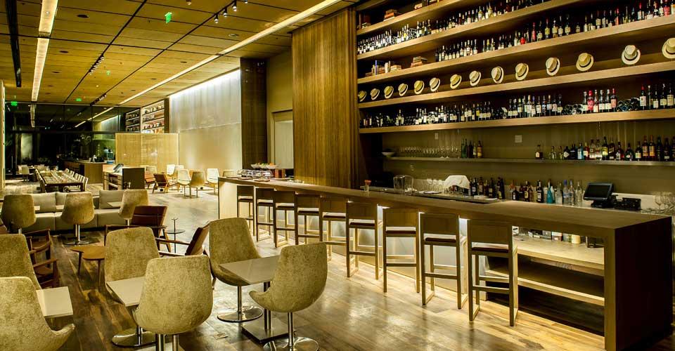 Modern bar and restaurant of Grand Hyatt Rio de Janeiro in Brazil