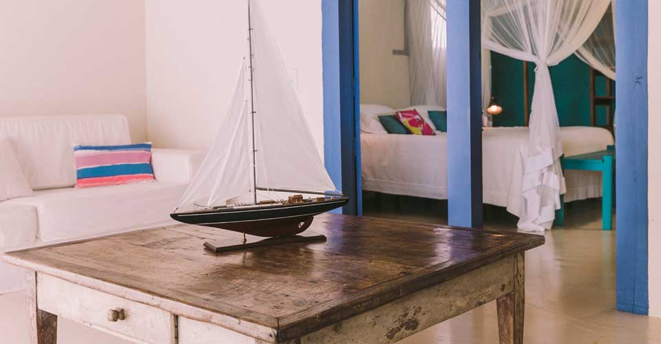 charming and cosy bedroom from Pousada Brisas do Espelho in Trancoso, Bahia, Brazil
