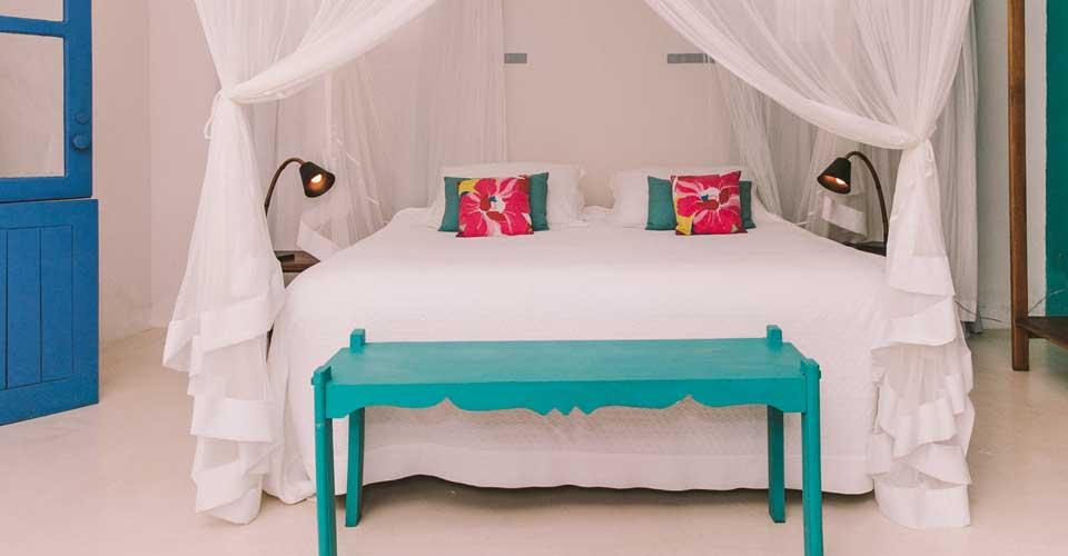 charming and cosy bed from Pousada Brisas do Espelho in Trancoso, Bahia, Brazil