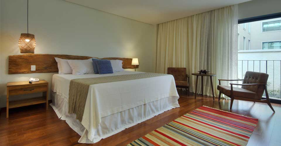 Cozy and comfortable bed from Hotel Villa Amazonia, Manaus in Brazil