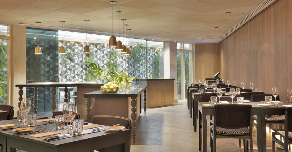 A trendy and gorgeous restaurant at the Yoo2 hotel in Botafogo, Rio de Janeiro, Brazil