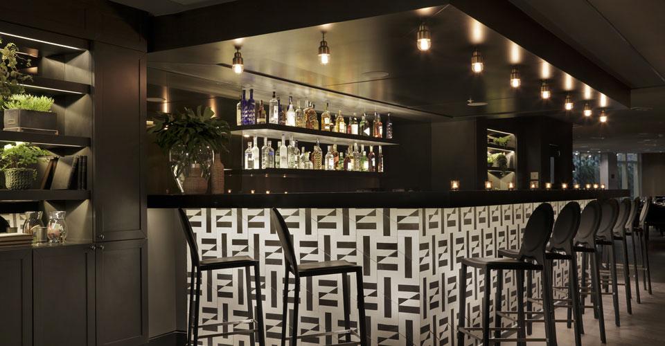 Partial view of the Yoo2's bar at the Yoo2 hotel in Botafogo, Rio de Janeiro, Brazil