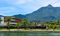 The magnificent property of Fasano Angra dos Reis in Brazil surrounded by the sea and lush green mountains