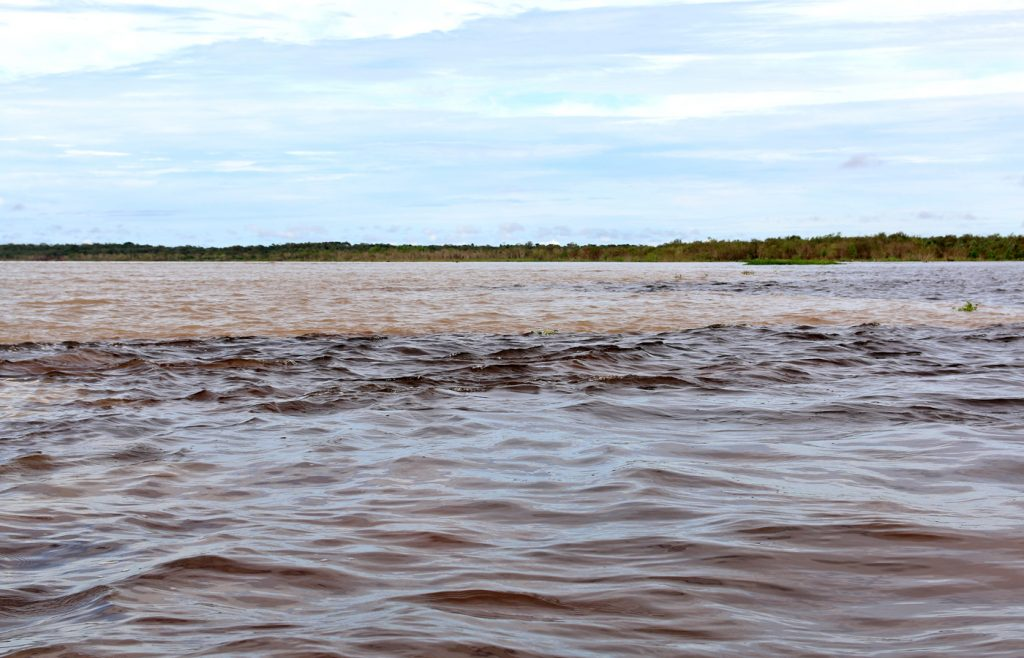 Meeting-of-the-Waters in Amazon Brazil