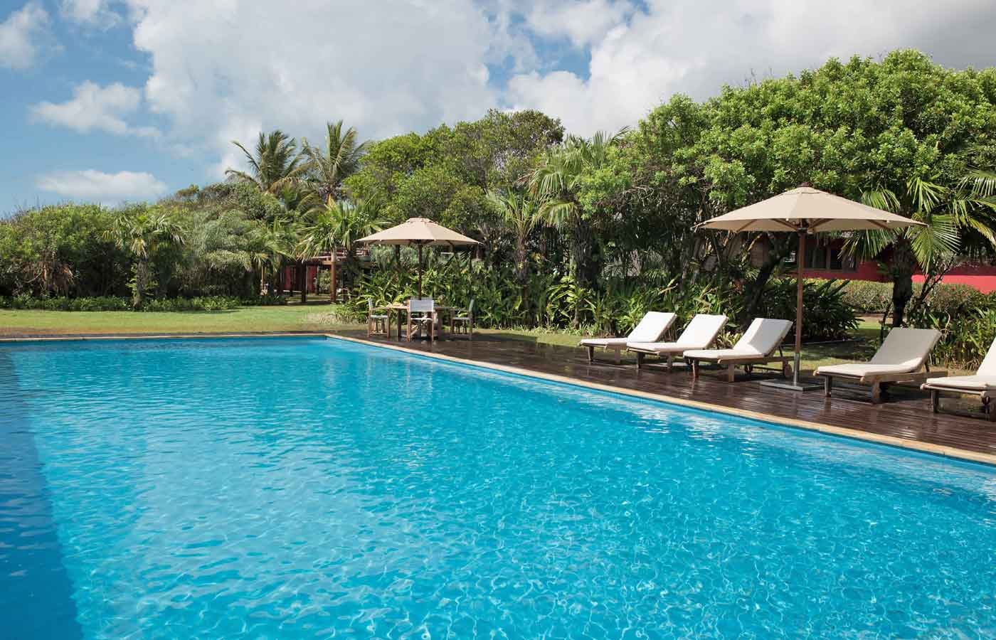 Gorgeous swimming pool at the Pousada Tutabel in Trancoso, Bahia in Brazil