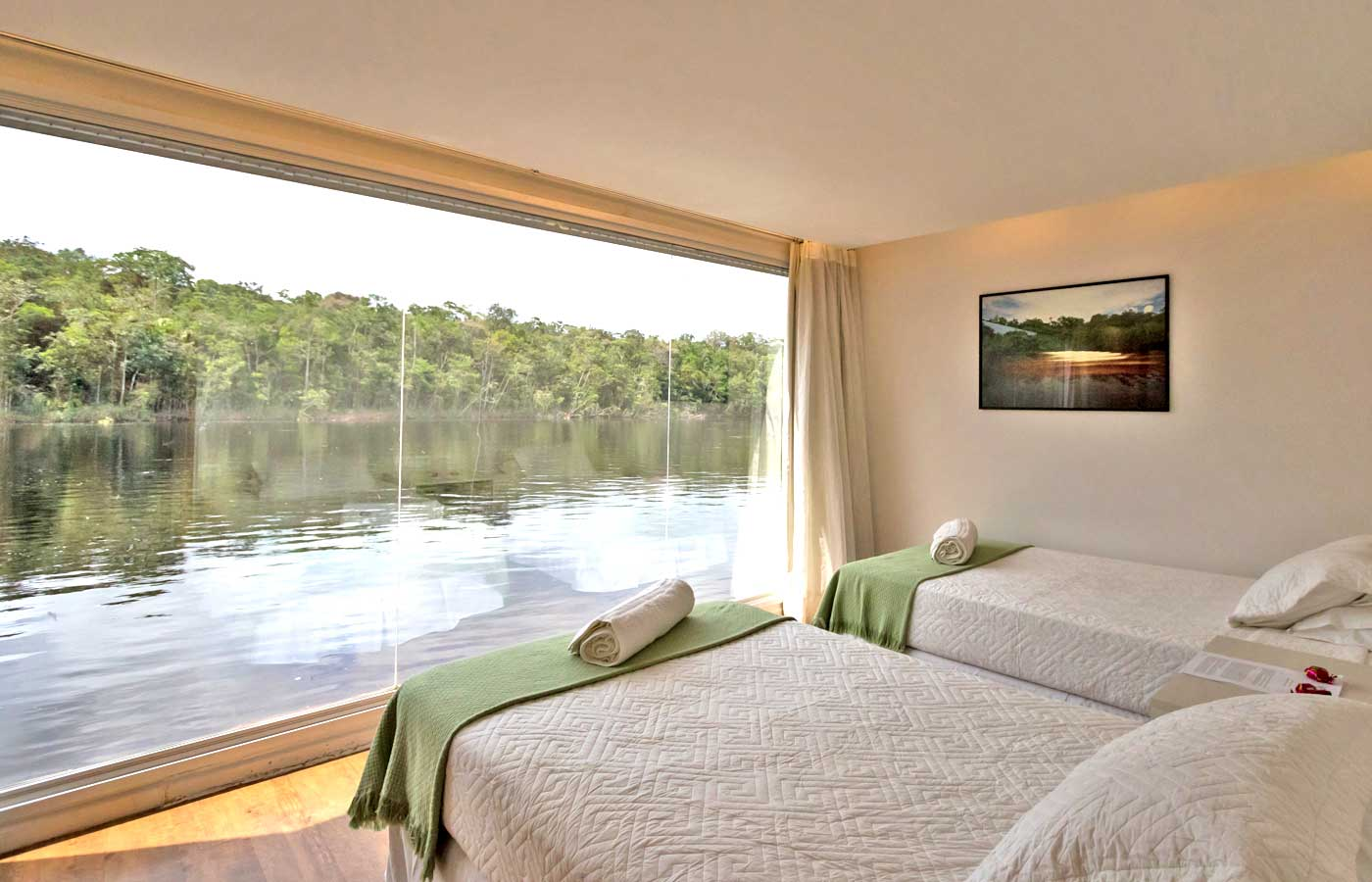 Panoramic view from a Suite at the Untamed Amazon Cruise in Brazil