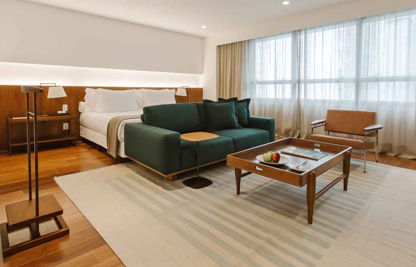 Hotel Fasano Belo Horizonte in Brazil - contemporary bedroom
