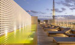 pool at at the luxury B-Hotel in Brasilia Brazil