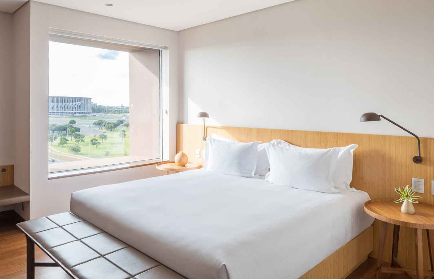accommodation at at the luxury B-Hotel in Brasilia Brazil