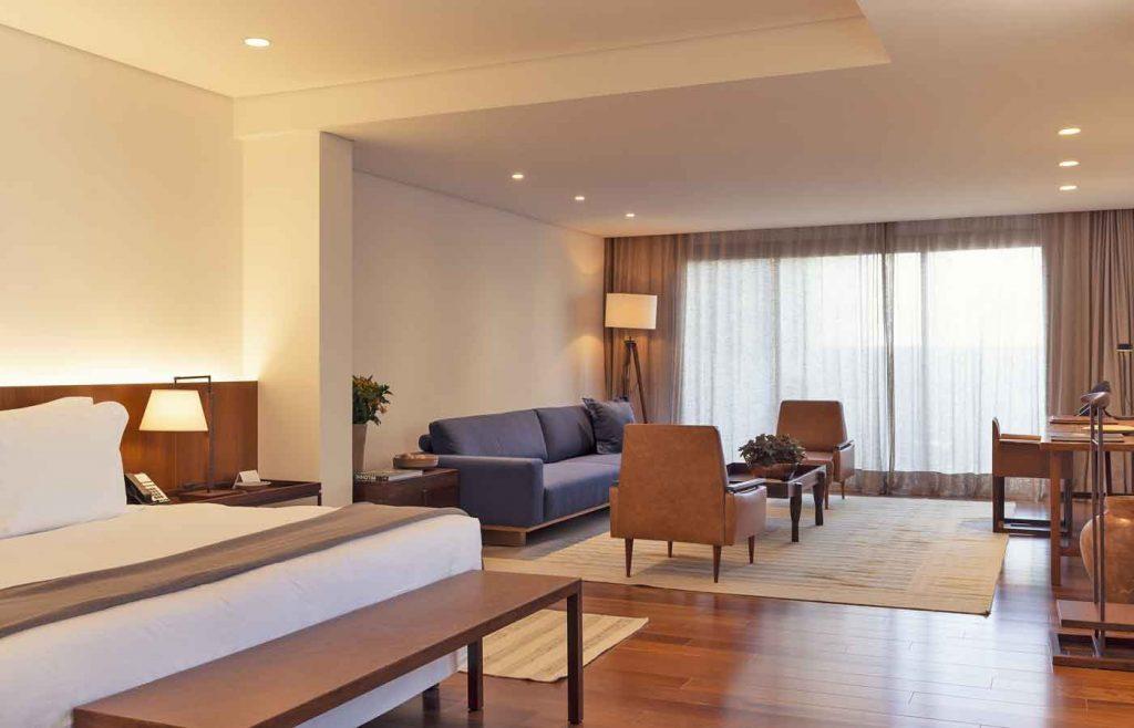 Bedroom at the Luxury Hotel Fasano Belo Horizonte in Brazil -visit Inhotim