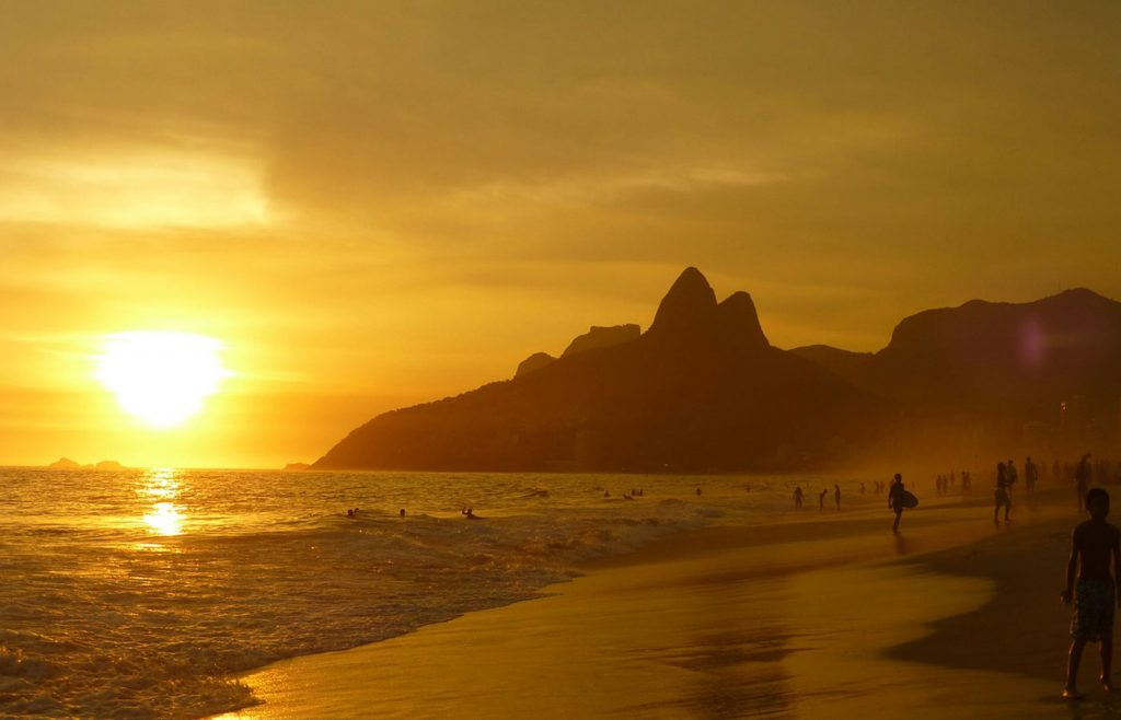 The stunning Ipanema sunset.