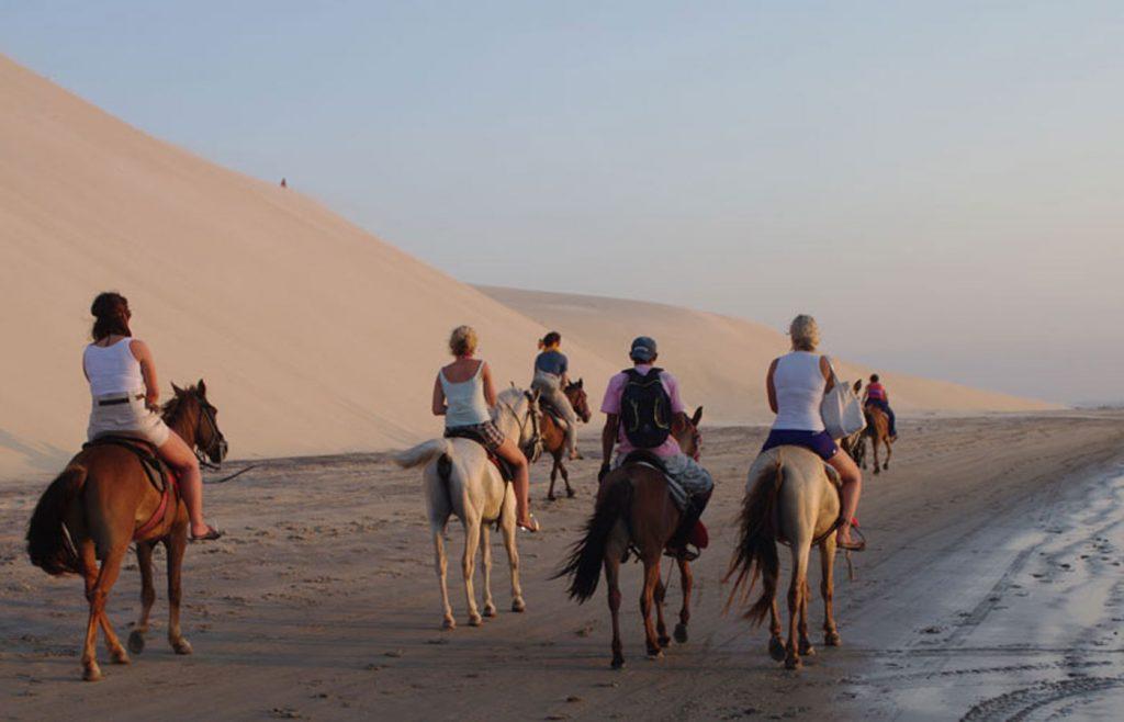 Horseback riding in Jericoacoara, Brazil