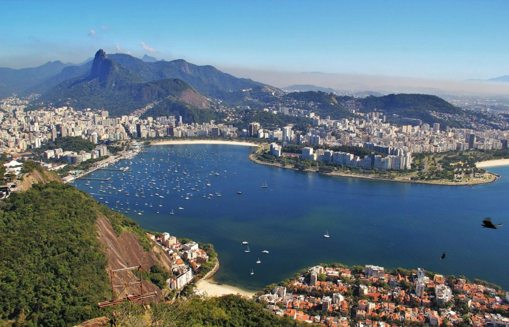 A view of Rio de Janeiro on a stunning sunny day in the city.