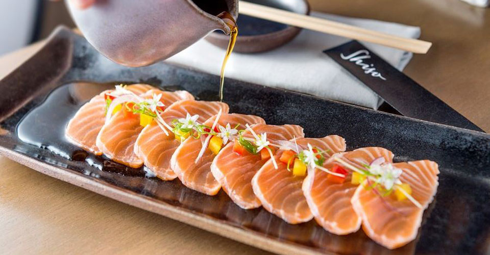 Food at the Grand Hyatt hotel Rio de Janeiro - sushi restaurant