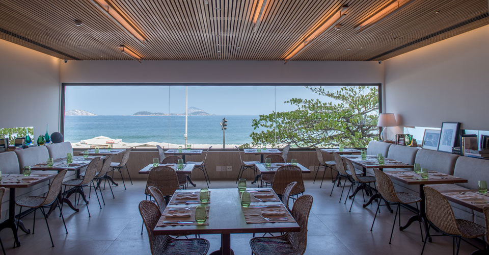 The stylish Janeiro restaurant, offering gourmet healthy cuisine