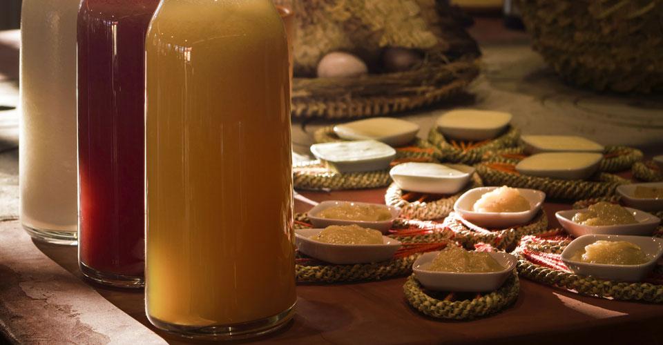 Breakfast at Pousada Trijuncao - homemade jam and juice