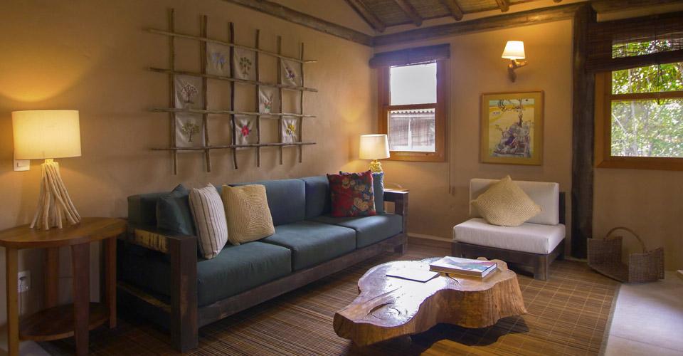 The living area in the Master Suite - Pousada Trijuncao in Brazil
