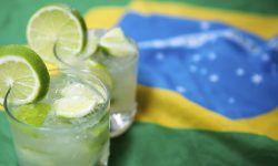 A typical Brazilian caipirinha - the national cocktail of Brazil