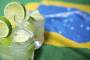 A typical Brazilian caipirinha - the national cocktail of Brazil