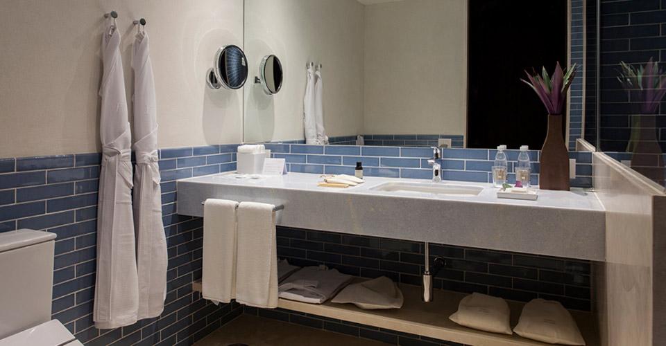 Marble bathrooms at Fasano Salvador, Brazil
