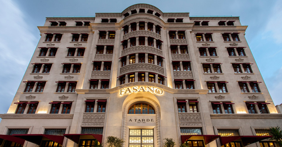 The elegant facade of the Fasano Salvador