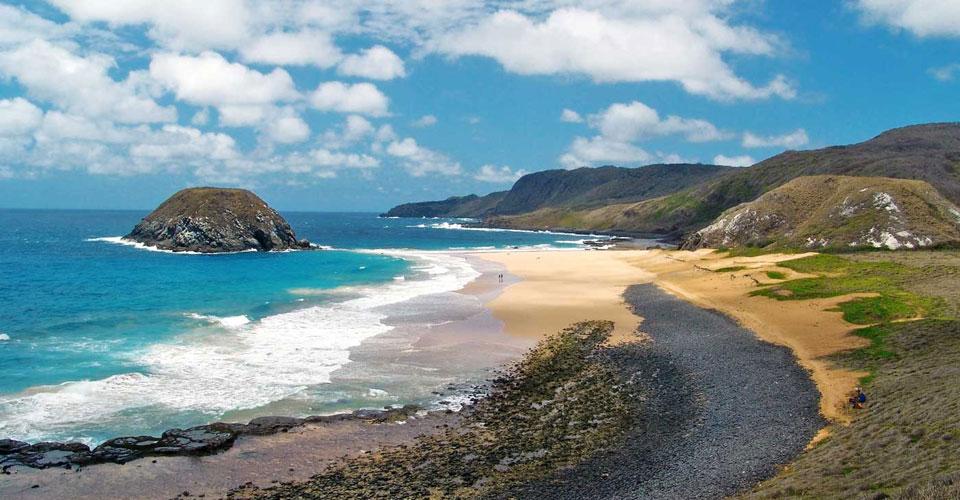 One of Fernando de Noronha's paradise beaches in the Atlantic Ocean