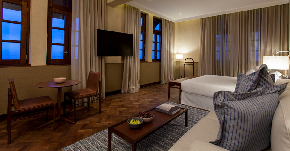 A sleek Junior Suite at Fasano Salvador - Brazil