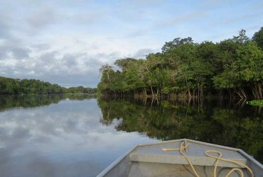 Boating on the Amazon river