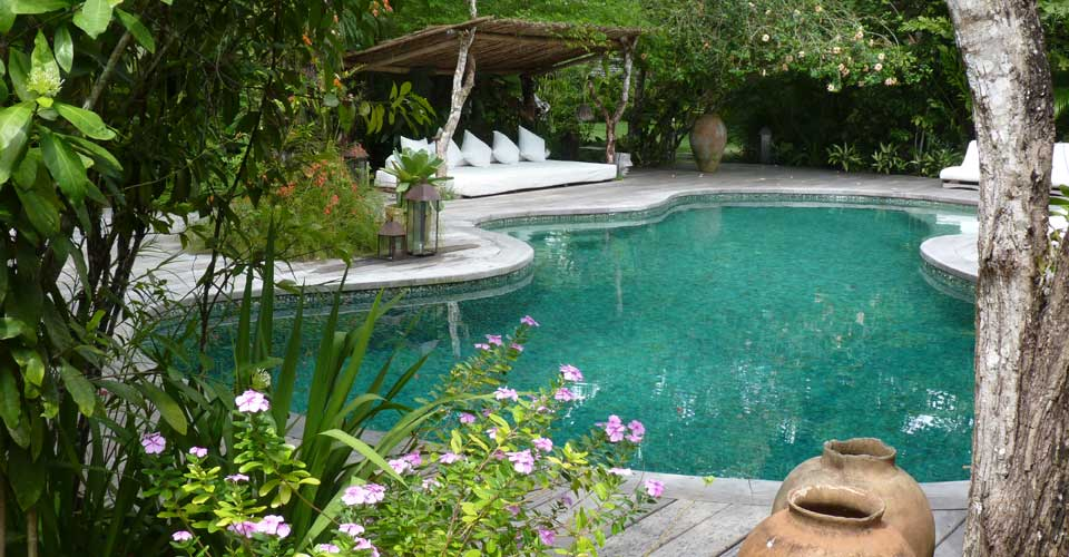 Uxua's stylish green aventurine pool