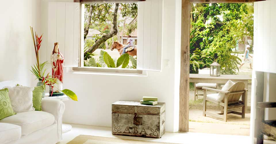 Wilbert Das' stylish design touches at Uxua Casa, Trancoso, Brazil