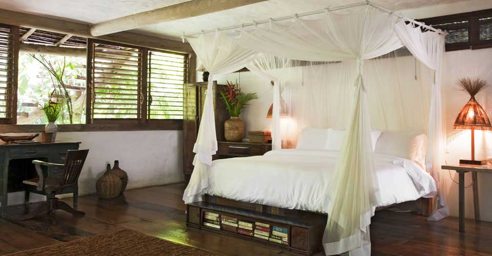 Rooms in a tropical luxury style at Uxua Casa, Trancoso - luxury holidays in Brazil