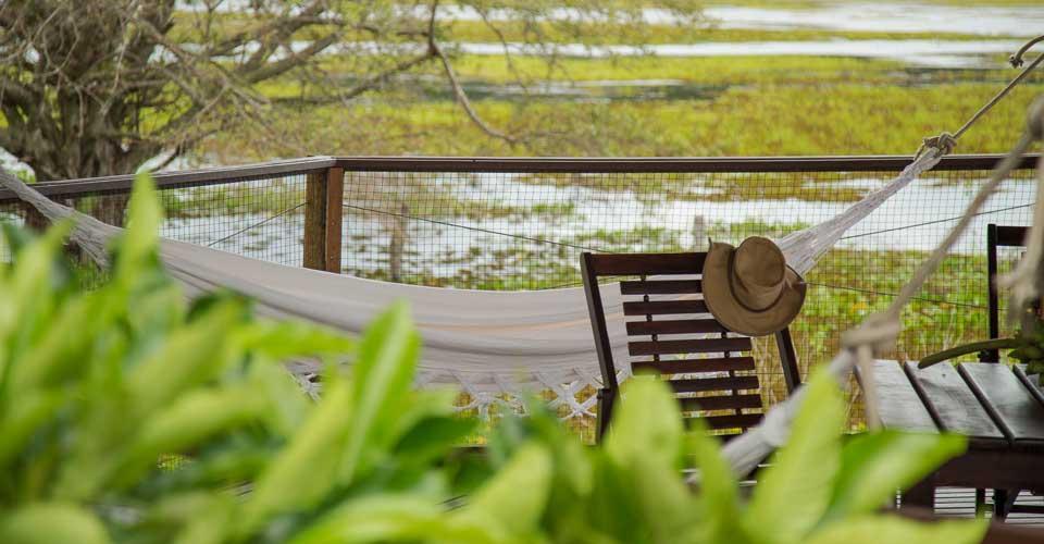 Terrace at Baiazinha Lodge - Caiman Ecological Refuge - Pantanal